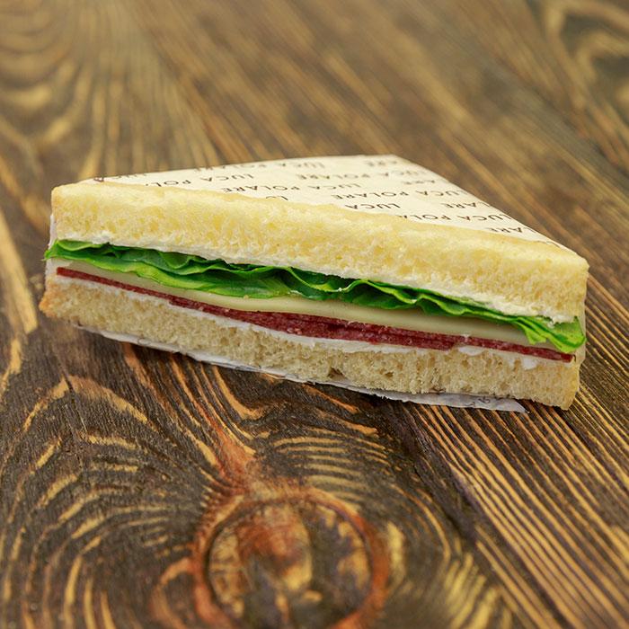 Beef salami sandwich